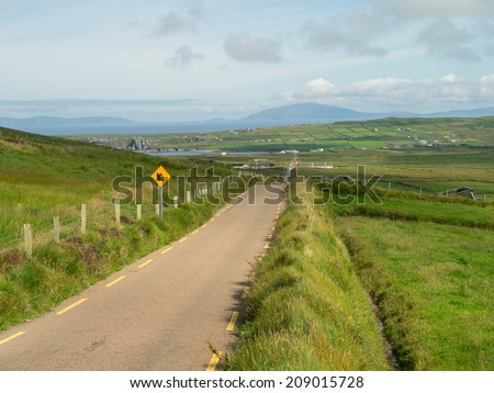 The ring of Kerry, Ireland - stock photo