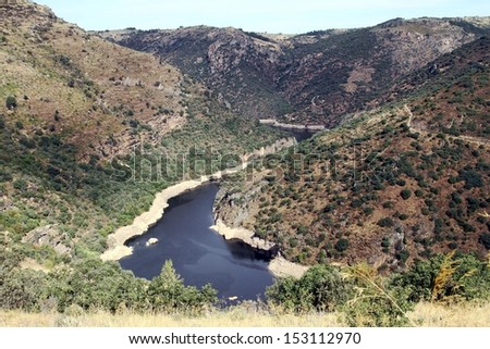 The river Duero and his ravine; Spain.