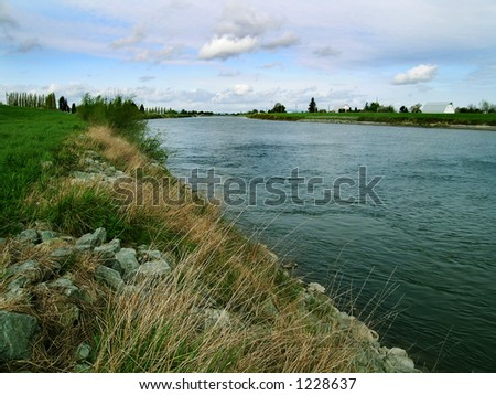 The River  provides electricity, drinking water and fish and wildlife habitat - stock photo