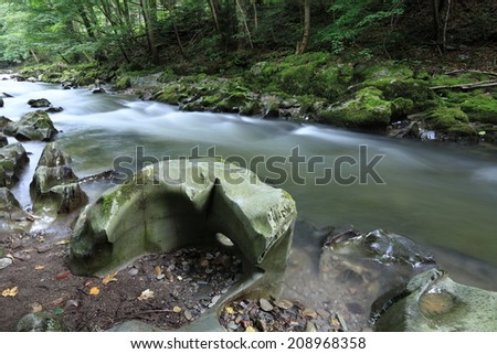 The River Schwarza with the Swirl Pots
