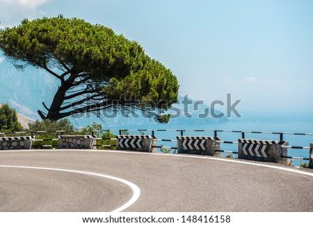 The road along the Amalfi Coast. Italy  - stock photo