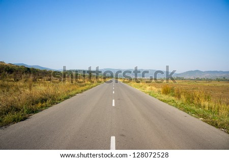 The road / Country road - stock photo