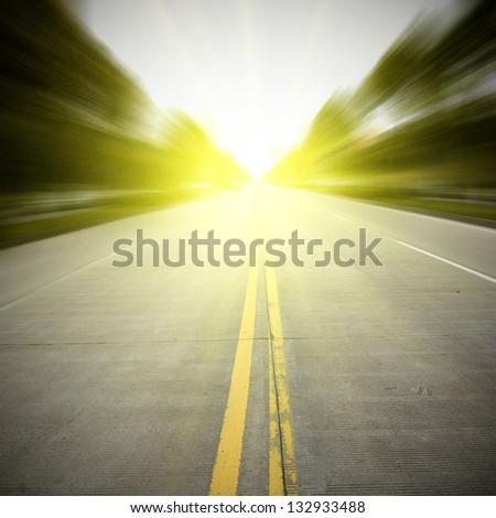 The road light - stock photo