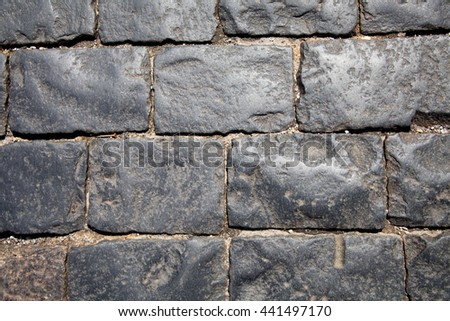 The road of stones, paving, abstract background - stock photo