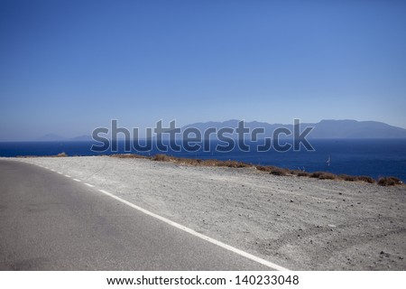 long road on dam curve stock photo 562977259 shutterstock. Black Bedroom Furniture Sets. Home Design Ideas