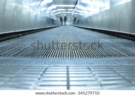 The road to success of modern elevator movemen - stock photo