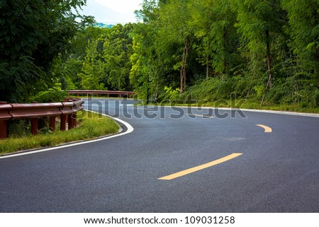 The road under the Blue Sky - stock photo