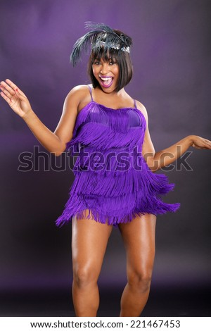 The roaring 20's African American in purple