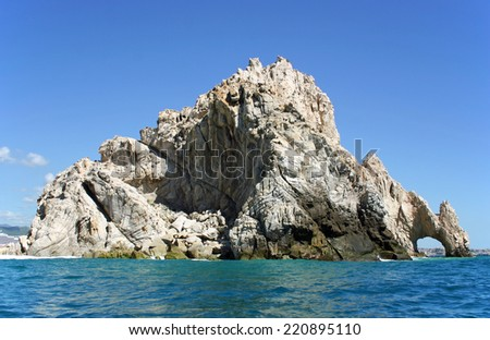 The rock formation called Los Arcos at Cabo San Lucas, Mexico - stock photo