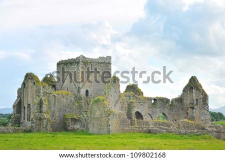 The Rock of Cashel- church - stock photo