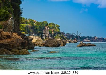 The rocky coast Balangan, Bali, Indonesia - stock photo