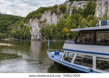the rocky shores of the Danube near Kelheim, Germany