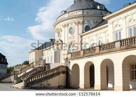 The rococo style Palace of the Solitude in Stuttgart, Germany was built as summer residence between 1764 and 1769 under Duke Karl Eugen of W�¼rttemberg.