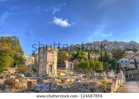 The Roman Agora ,Athens.Greece - stock photo