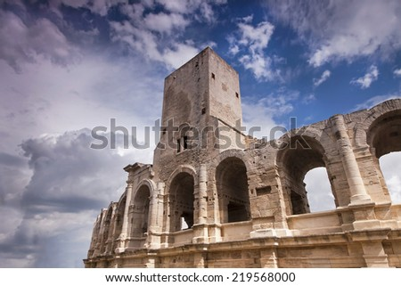 The Roman Arena in Arles, France  - stock photo
