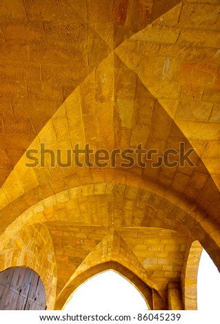The roof of a turkish fashioned old building in Nicosia Cyprus - stock photo