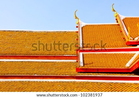 The roof of temple in Thailand.