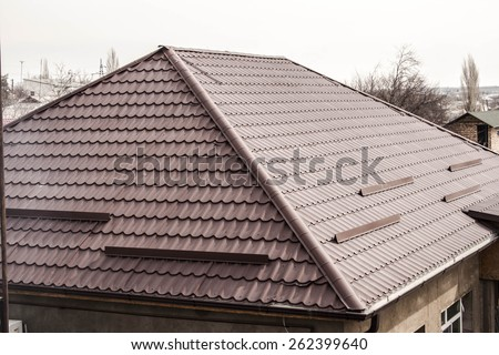 the roof of the house - stock photo
