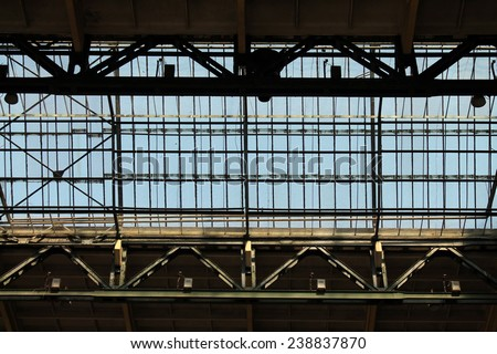 The roof of the old production hall  - stock photo