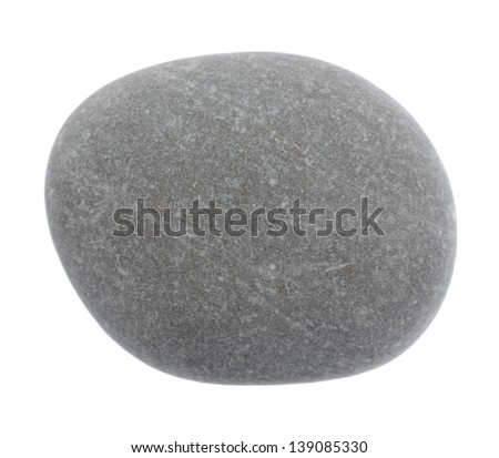 The round stone is isolated on a white background - stock photo