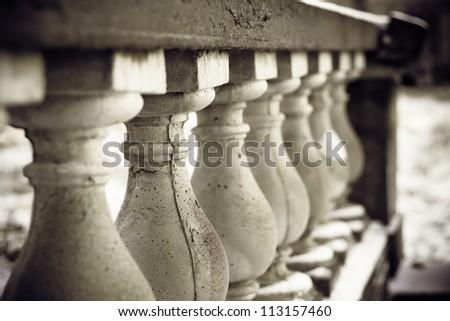 The row of columns - stock photo
