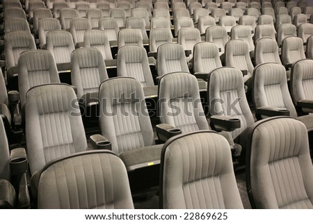 The rows of an empty seats (cinema, theatre, conference, concert) - stock photo