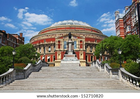 The Royal Albert Hall in London  - stock photo
