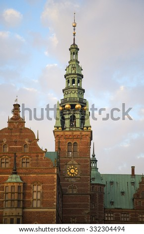 The Royal chapel of Frederiksborg castle. Denmark - stock photo