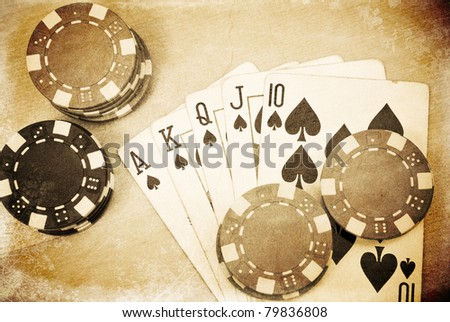 The Royal Flush - stock photo