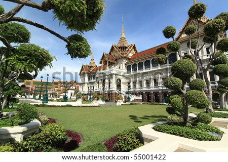 The Royal Grand Palace, Bangkok, Thailand - stock photo