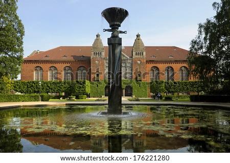 The royal library in Copenhagen Denmark  - stock photo