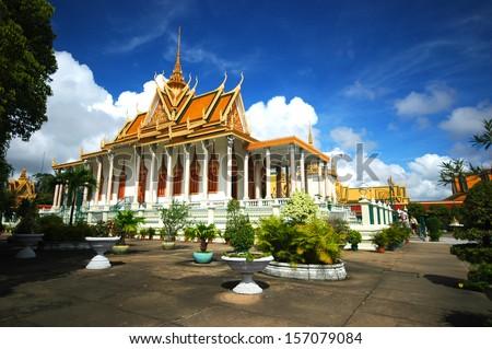 The Royal Palace, Phnom Penh - stock photo