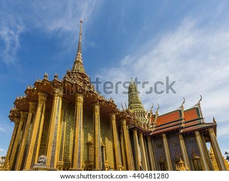 The Royal Pantheon in the Grand Palace, Bangkok, Thailand - stock photo