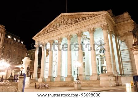 The Royal Stock Exchange, London, England, UK - stock photo