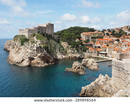 The Rugged Coastline, of Dubrovnik, Croatia - stock photo