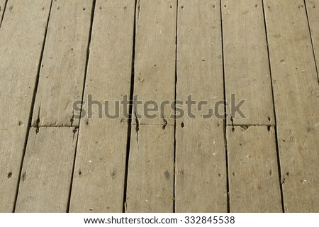 The ruined of wood terrece floor background and texture - stock photo