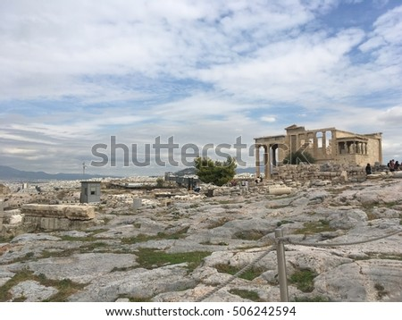 The ruins of Acropolis, Athens, Greece