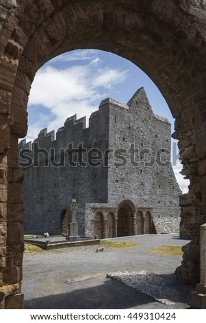 The ruins of Ardfert Cathedral in County Kerry in the Republic of Ireland. Ardfert was the site of a Celtic Christian monastery reputedly founded in the 6th century by Saint Brendan.