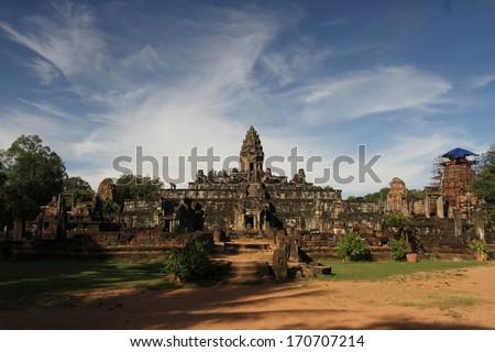 The ruins of Bakong, Angkor Wat, Siem Reap, Cambodia. - stock photo