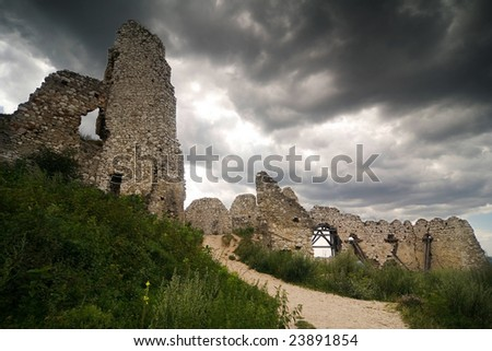 the ruins of castle Cachtice - Slovakia
