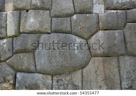 The ruins of Sacsayhuaman - stock photo