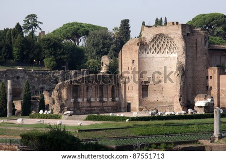 The ruins of the temple of Venus in Rome, Italy.