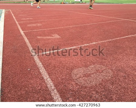 The running tracks and the runners