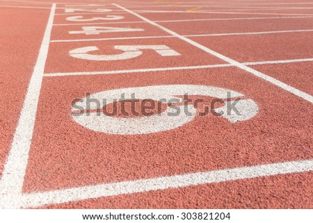 The runway the beautiful in the track and field court