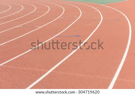 The runway the beautiful in track and field