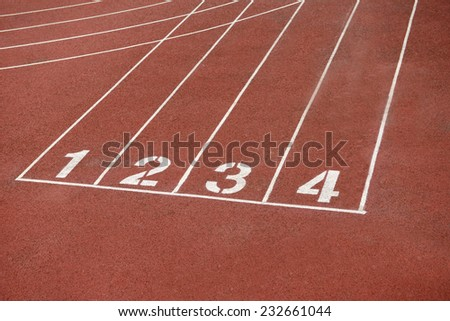 The runway the beauty on the sports field   - stock photo