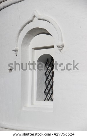 The Russian Orthodox Church in the Vologda, Russia. Saint Sophia cathedral decoration element - stock photo