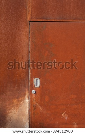 The rusty iron gate background