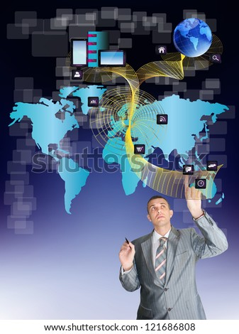 The safety social network.Internet concept - stock photo
