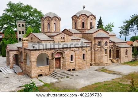 The Saint Dionysios Monastery, Greece - stock photo